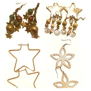 Jewelry - 💜3/30 Earring Star Collection 4 pairs
